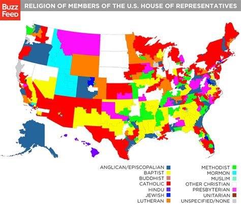 usa religion map religion map of congress members shows the diversity of