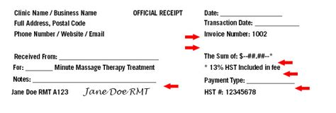 therapy receipt template financial record keeping therapy canada