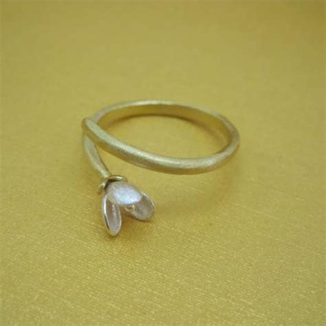 flower pattern ring hand made flower pattern silver woman rings fashion