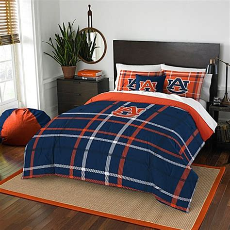 auburn university embroidered comforter set bed bath