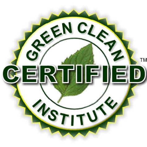 new green cleaning service company green clean institute certified
