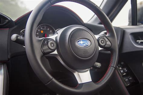 subaru steering wheel first drive 2017 subaru brz automobile magazine