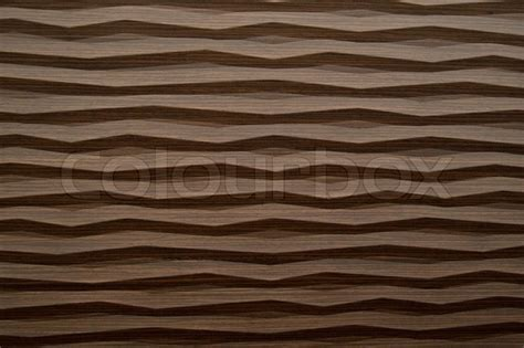 Abstract background of wave modern wood texture closeup