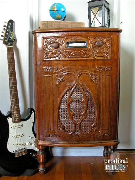 The Cabinet Radio by Repurposed Radio Cabinet Turned Dollhouse Prodigal Pieces