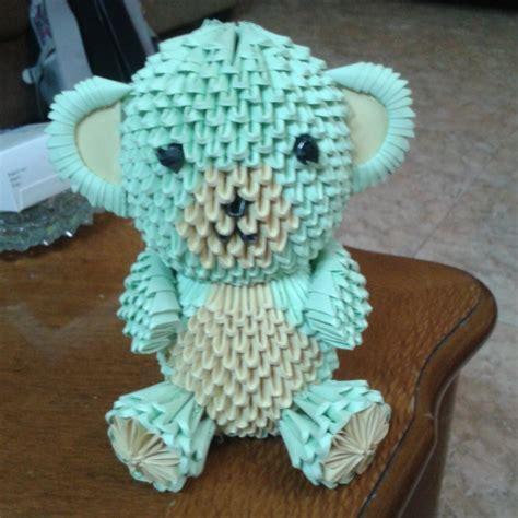3d origami teddy by taimagroo on deviantart