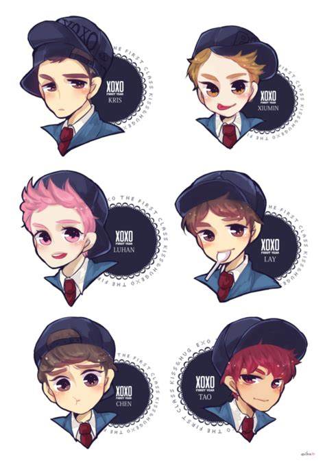 wallpaper animasi exo exo cartoon tumblr