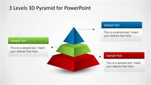 Powerpoint Pyramid Template by 3 Levels 3d Pyramid Template For Powerpoint Slidemodel