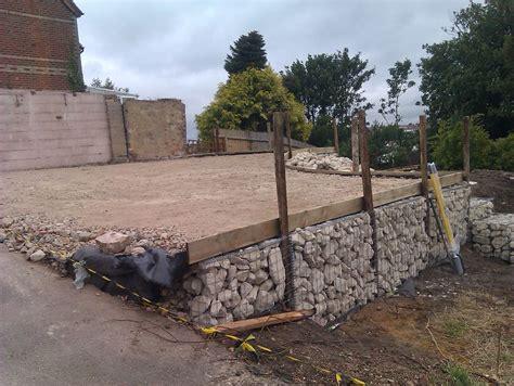 Gabion Basket Retaining Wall In Parkstone Dorset Msc Gabion Garden Wall