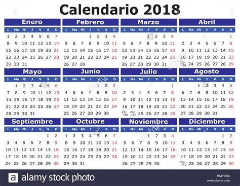 2018 vector calendar in easy for edit and apply