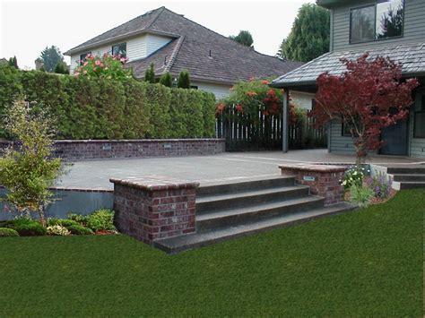 Brick And Concrete Patio by Concrete And Brick Combinations