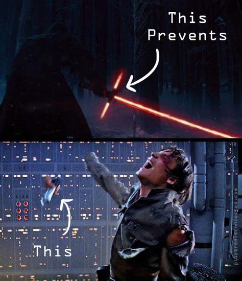 Lightsaber Meme - this prevents this crossguard lightsaber know your meme