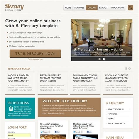 free joomla 2 5 templates for business download template bj mercury for joomla 2 5 rizvn