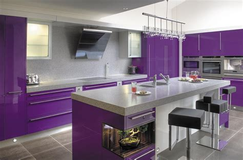 purple kitchens purple kitchen ideas designed in feminine style