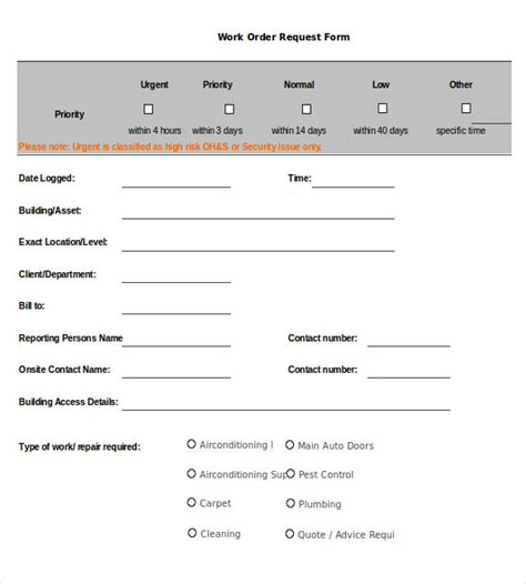 work request form template 20 work order templates pdf doc free premium templates