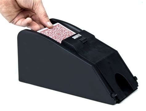 Blackjack Card Shuffler Template by 2 In 1 Automatic Card Shuffler And Blackjack Dealer Shoe
