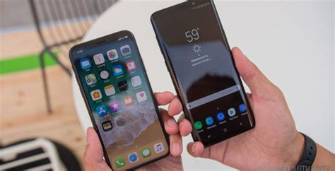 Samsung Galaxy S10 Vs Iphone 7 Plus by Samsung Galaxy S9 Vs Apple Iphone X Android Authority