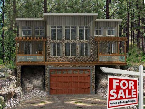 cabin house plans  garage lake cabin house plans
