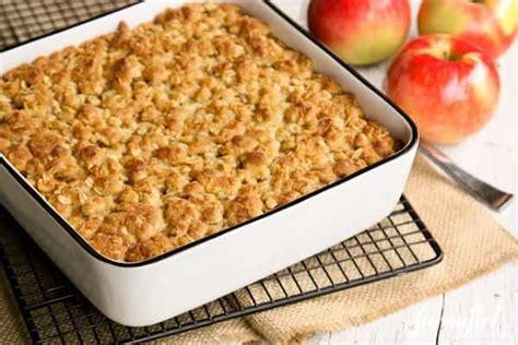 overnight baked apple oatmeal  crunchy brown sugar