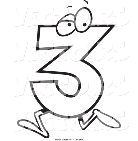 cartoon numbers coloring pages number three clipart clipart panda free clipart images