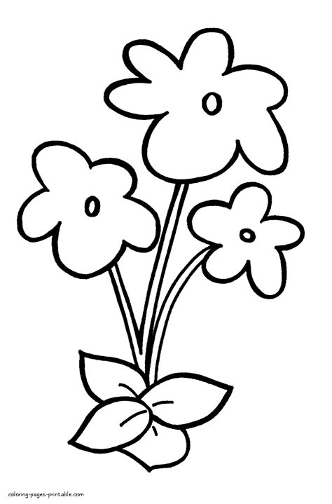 coloring pages of flowers for preschool flower coloring sheets for kindergarten the art jinni