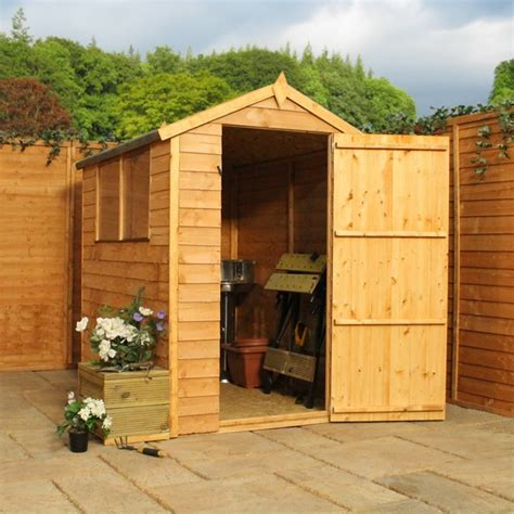 6 X 4 Garden Shed by 6 X 4 Waltons Overlap Apex Wooden Shed