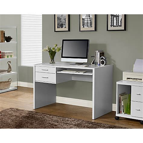 white computer desk with keyboard tray monarch computer desk with keyboard tray 31 h x 48 w x 24