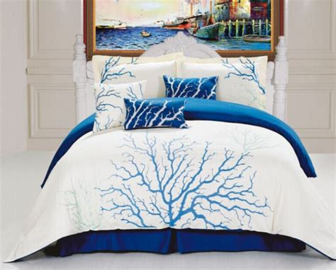 blue coral bedding set nautical snob