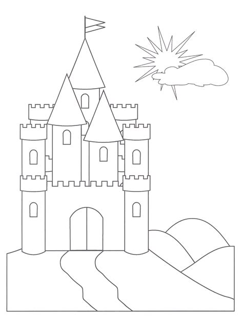 preschool coloring pages princess castle coloring pages free to print gif 1671 215 2204 work