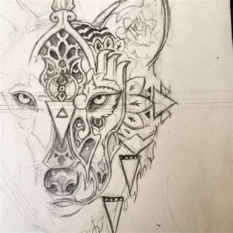 mandala animal tattoo tumblr geometric wolf tattoos stunning geometric line tattoos by