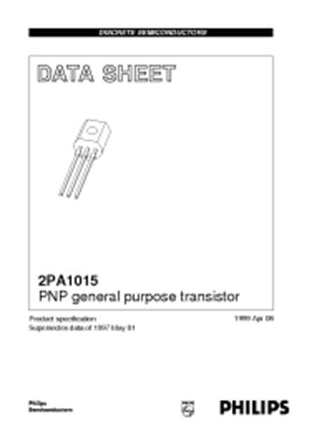 transistor a1015 datasheet a1015 philips pnp general purpose transistor