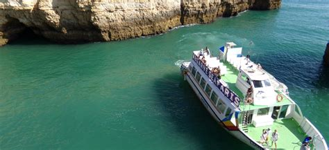 catamaran hire vilamoura vilamoura boat trip along algarve coastline cliffs and