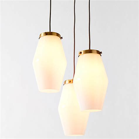 west elm ceiling light buy west elm mid century opal glass three light pendant