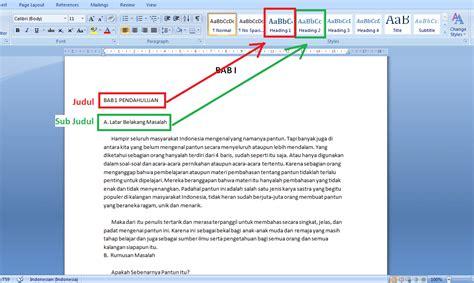 cara membuat daftar isi otomatis di office 2007 cara cepat membuat daftar isi otomatis microsoft word 2007