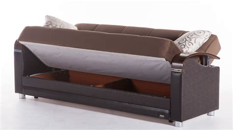 sleeper couch with storage luna sofa bed with storage
