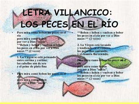 villancicos para ni241os villancico los peces en el r 237 o canciones infantiles