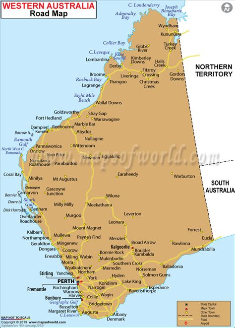 washinton map western australia road map maps of world