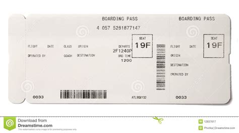 boarding pass template free printable boarding pass template