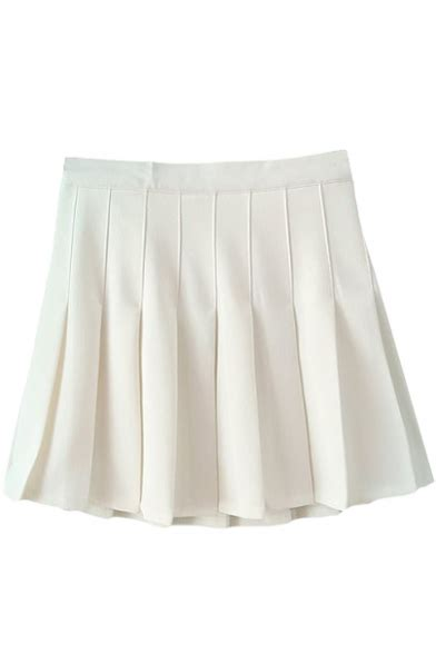 white pleated tennis style skirt beautifulhalo