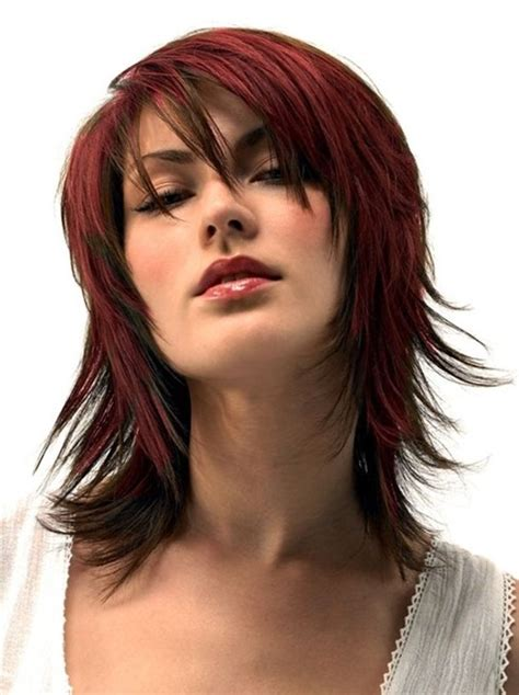 hairstyles for thick red hair medium length haircuts for thick hair red hair styles