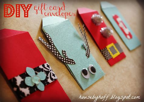 Gift Card Envelopes Diy - diy gift card envelopes house by hoff