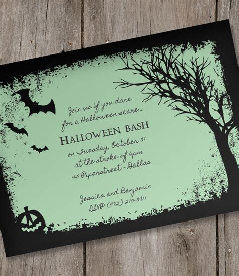 halloween invitation template spooky woods download