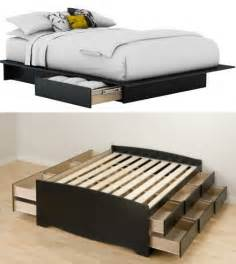 Queen Bed Frame Storage Make Your Own Queen Size Platform Bed Discover