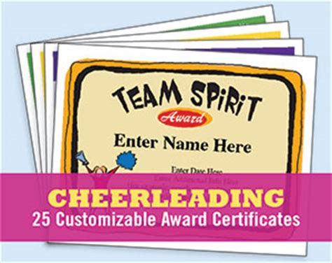 cheerleading certificate templates free cheerleading certificates free awards templates