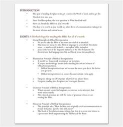 Sermon Writing Template by Sermon Outline Template 12 For Word And Pdf Format
