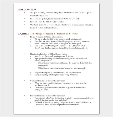 sermon outline template format for writing a sermon images