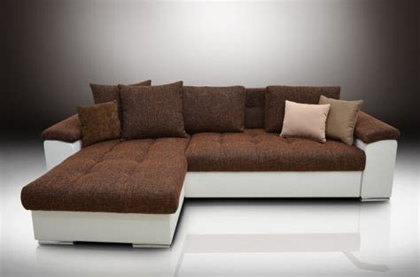 white leather corner sofa bed corner sofa bed quot mike quot magma orange white eco leather