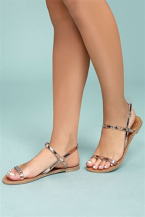 Bridesmaid Sandals Flat by Best 25 Gold Flat Sandals Ideas On Gold