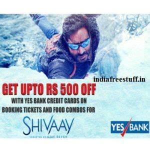 Bookmyshow Yes Bank | shivaay movie 50 off on booking tickets food combos