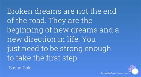 in the beginning a start to a strong finish books broken dreams are not the end of the road they are the