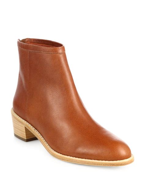 loeffler randall felix leather ankle boots in brown